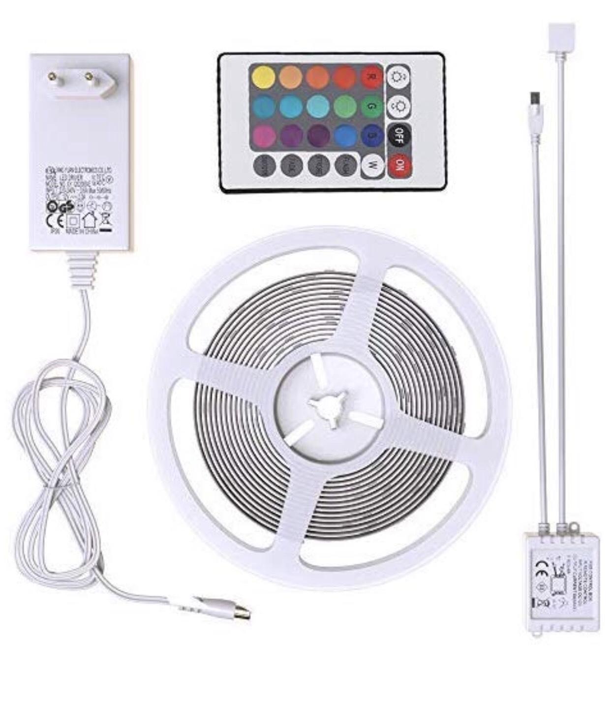 B.K.Licht LED Stripes, Stripe, Lichterkette, Band, Streifen, LED Leiste, LED Lichtleiste, LED Bänder, Lichterkette LED 5M