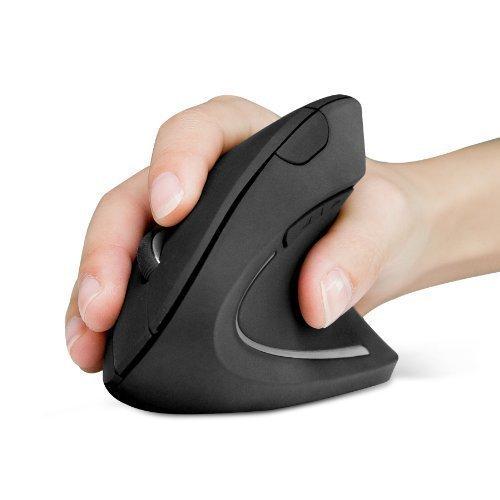 Anker 2.4G Wireless Maus Vertikale Ergonomische Funkmaus Vertical Mouse Kabellos für Windows, Mac OS, USB, 800/1200/1600 DPI, 5 Tasten