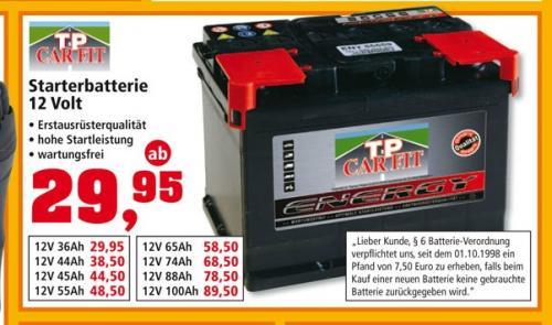 Autobatterien @ Thomas Philipps ab 29,95€