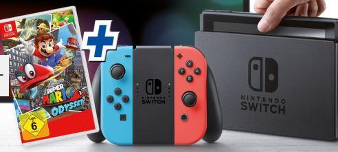 Nintendo Switch-Konsole + Super Mario Odyssey für 329,99