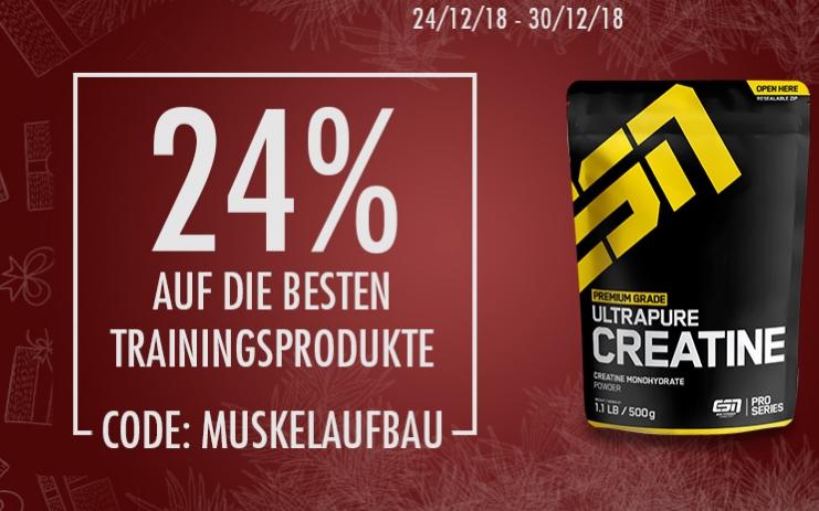 24% Rabatt  Bei ESN Bestsellern + Gratis Creatin