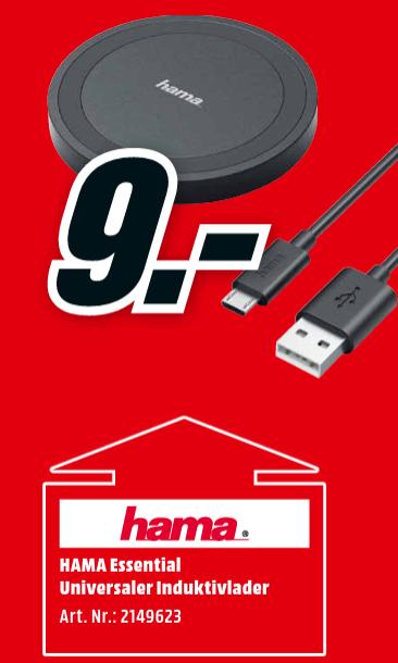 HAMA Essential Ladestation Induktivladegerät [ab 03.01. MediaMarkt]
