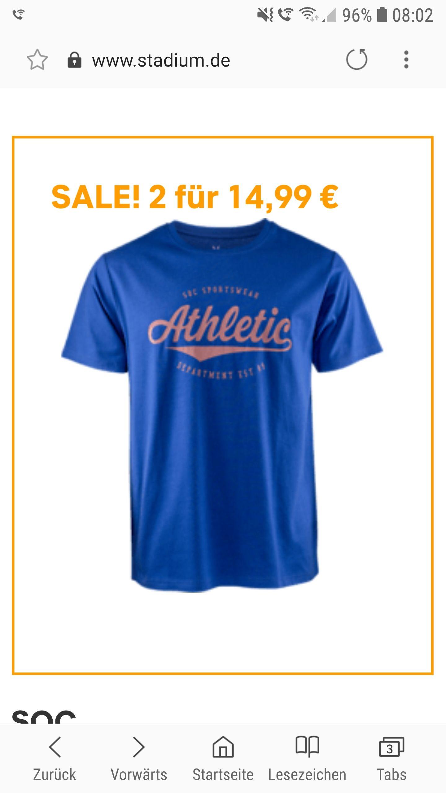 [STADIUM HH lokal] T-Shirt für 2,99€ Preisfehler