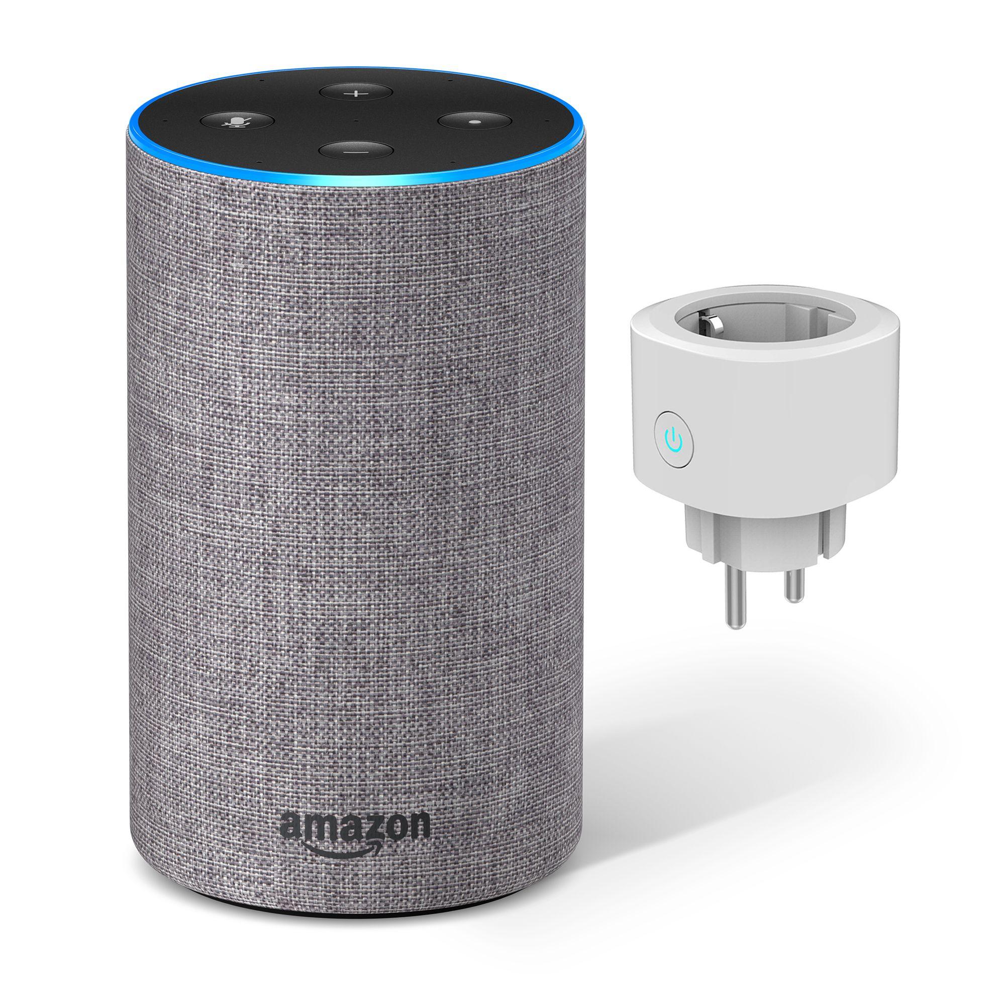 AMAZON Echo 2. Generation + WOOX Smart Home Steckdose