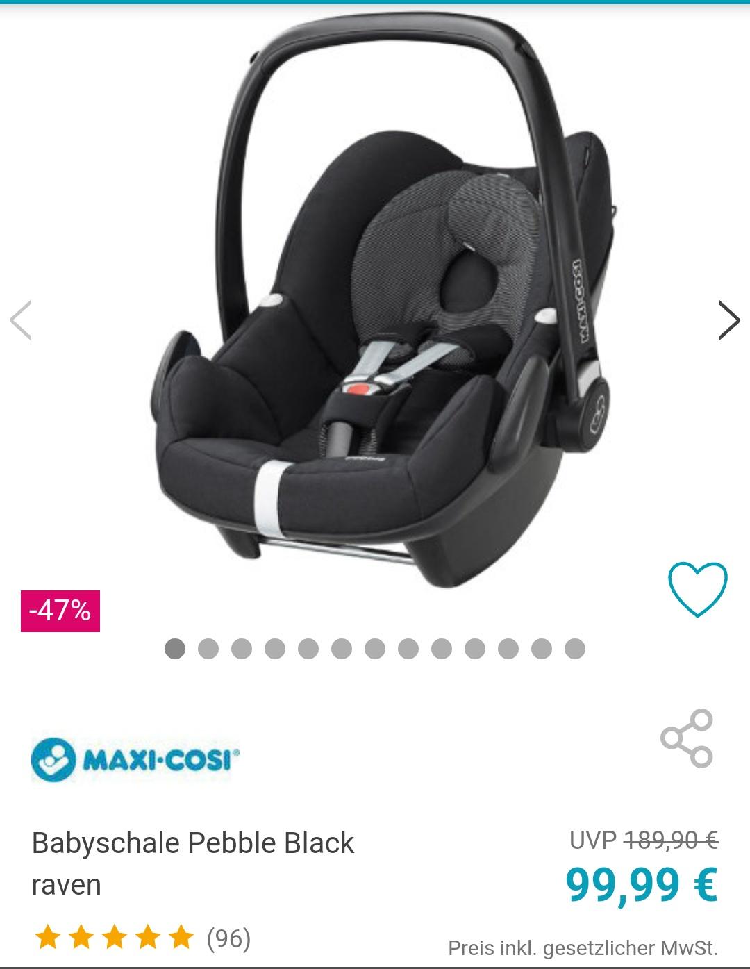 Maxi Cosi Babyschale Pebble Black raven