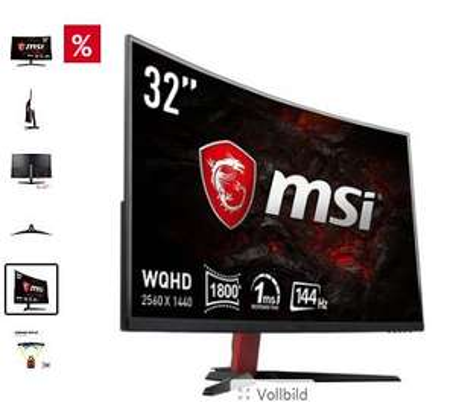 "MSI Optix AG32CQ-8015 WQHD Monitor Curved 80cm (32"") [möglich für 375,05€]"