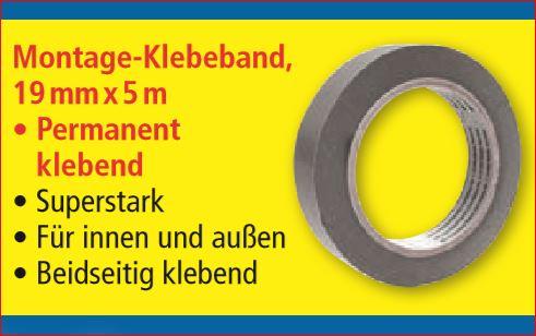 3M Montage-Klebebänder (versch. Montageklebebänder, Spiegelklebeband) für jeweils 3,99 Euro [Norma]