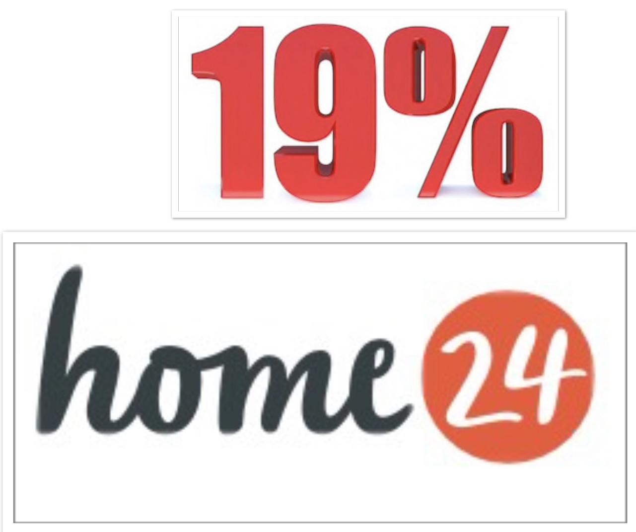 Geht weiterhin! - 19% Rabatt zum Neujahr auf ALLES was nicht reduziert ist (MBW 150€) bei home24