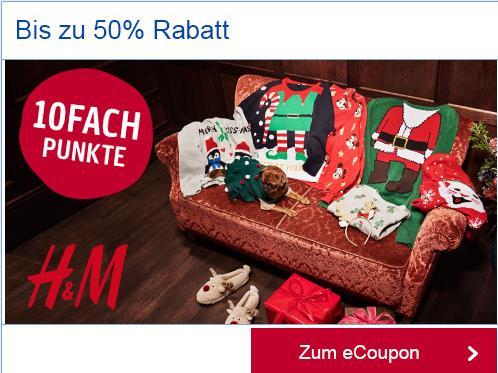 Payback 10-Fack Punkte bei H&M 5% Cashback super Kombi mit Wintersale