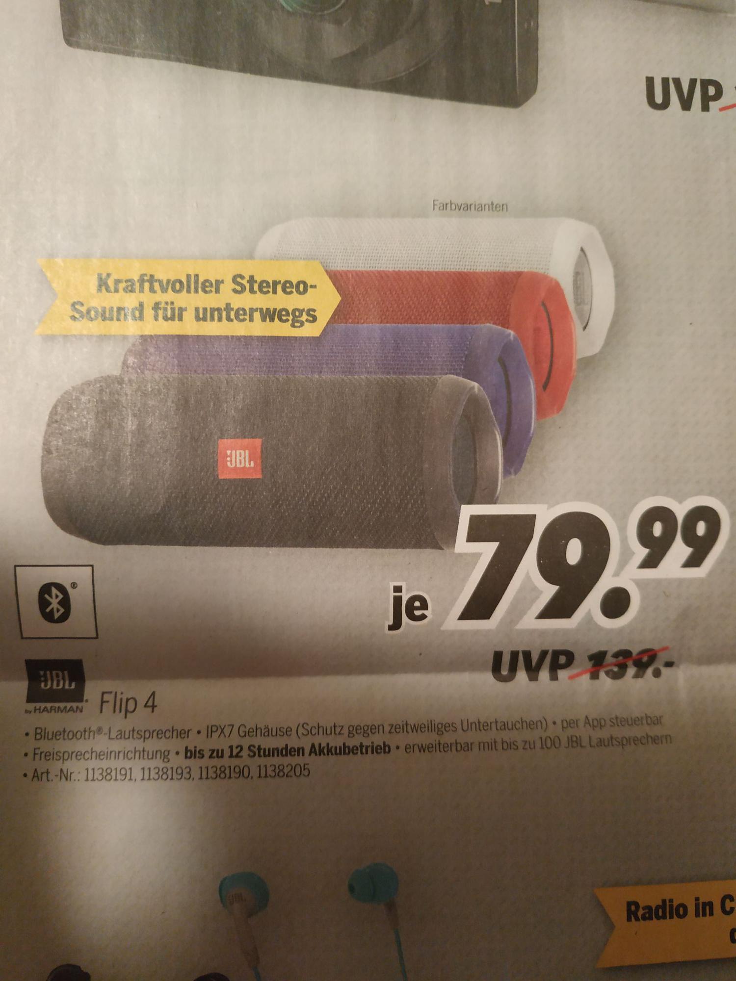 [Lokal: Berlin, Wildau, Neuruppin] JBL Flip 4 MediMax