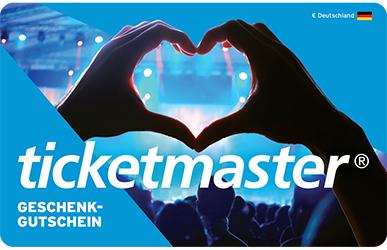 Ticketmaster Geschenkgutscheine 20% Rabatt