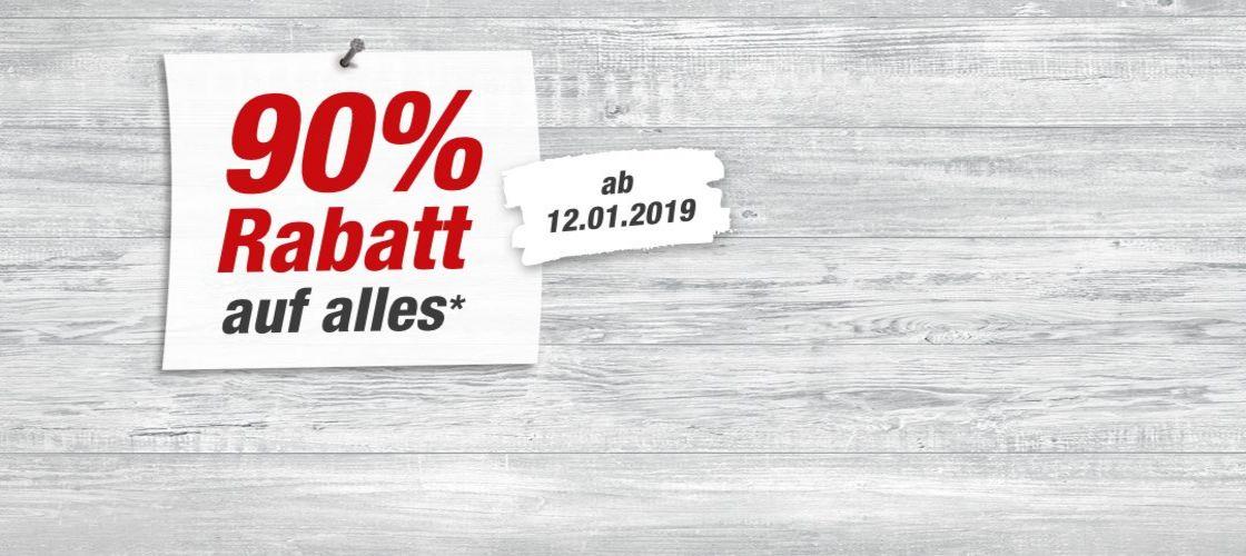 Lokal Marienhafe: Update: Jetzt wieder erhöht, 90% Rabatt auf alles* im Toom Baumarkt