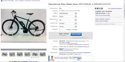 Bosch Pedelec - 1199€ (Elektrofahrrad)