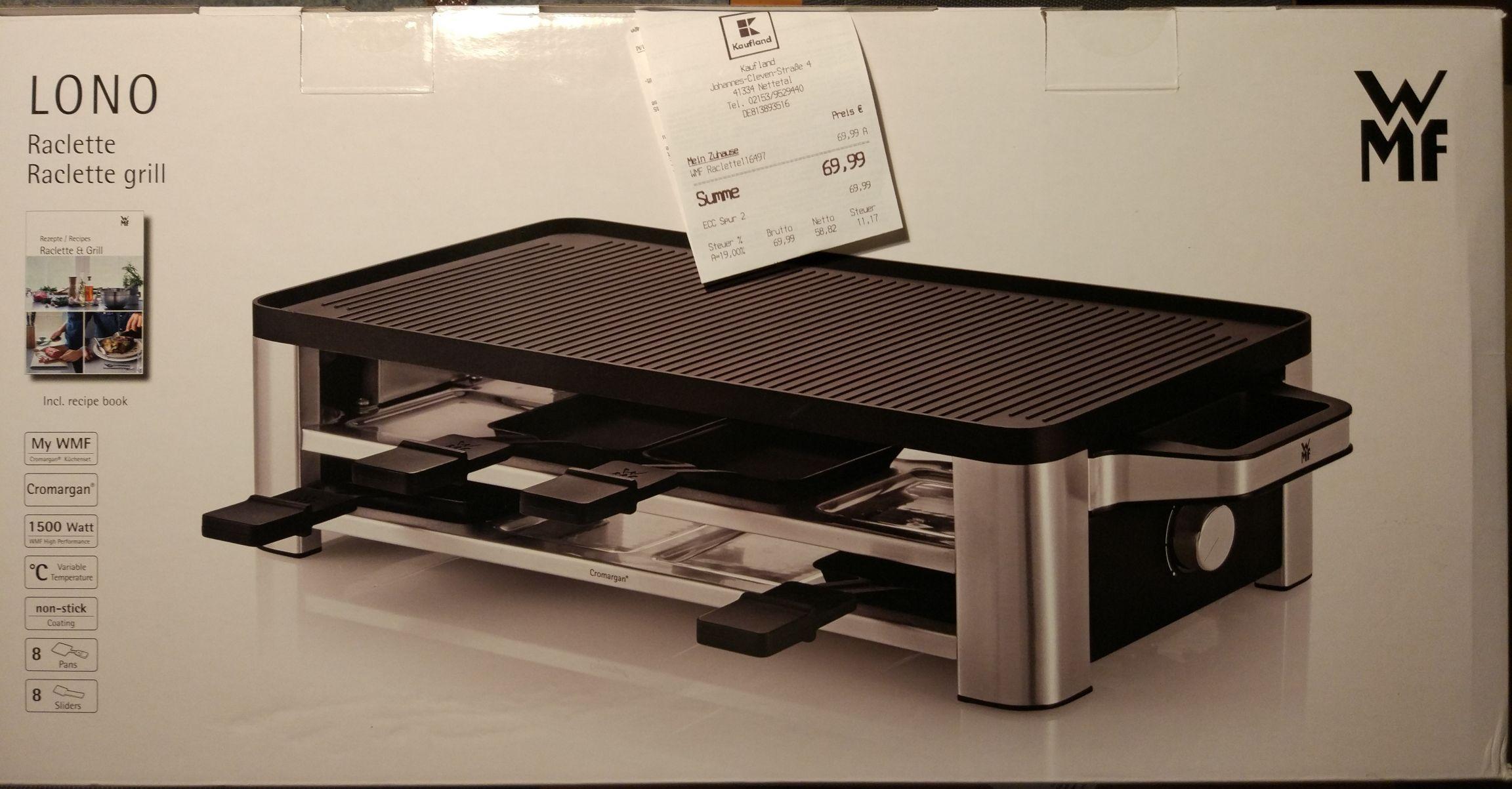 WMF Lono Raclette 8 Pfännchen 1500 Watt (0415040011) - Lokaler Deal in Nettetal