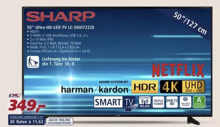 [Real] - Sharp LC-50UI722E UHD 4K LED TV 50 Zoll Smart TV