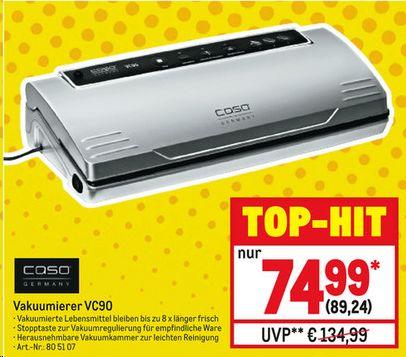 [Metro 02.01. - 09.01.] Caso VC90 (baugleich VC100)