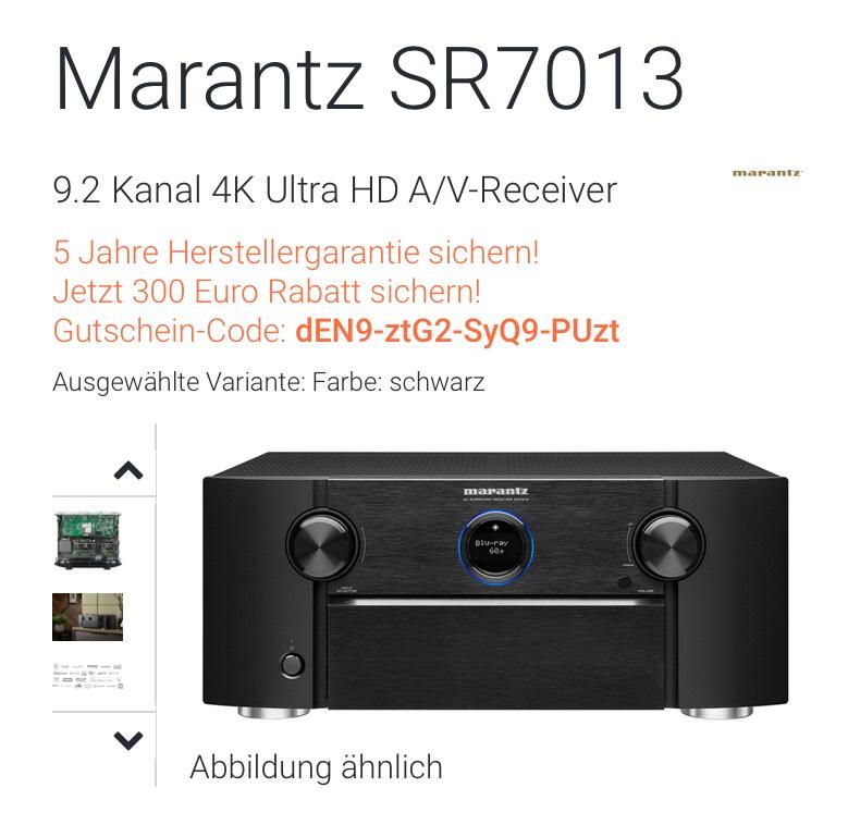 Marantz SR7013  9.2 Kanal 4K Ultra HD A/V-Receiver  Surroundverstärker Hifi Heimkino