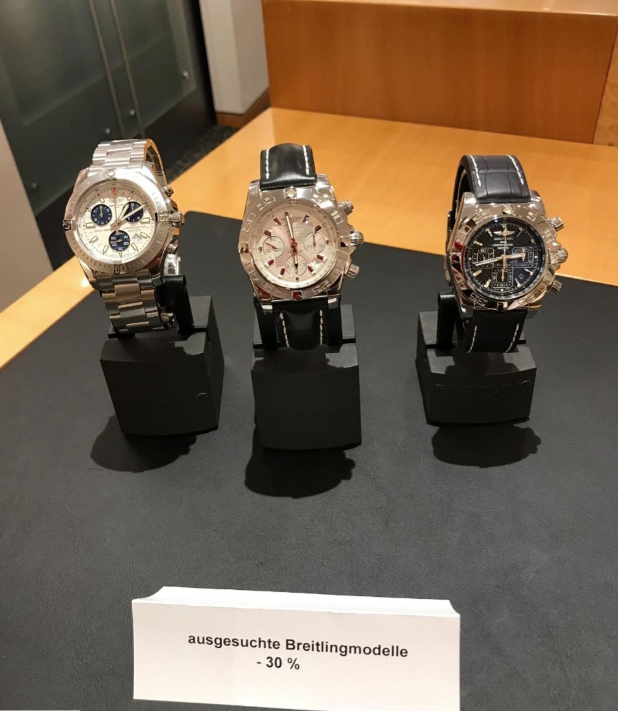 Juwelier Rene Kern ( Bucherer ) verkauft Breitling Uhren mit -30% !