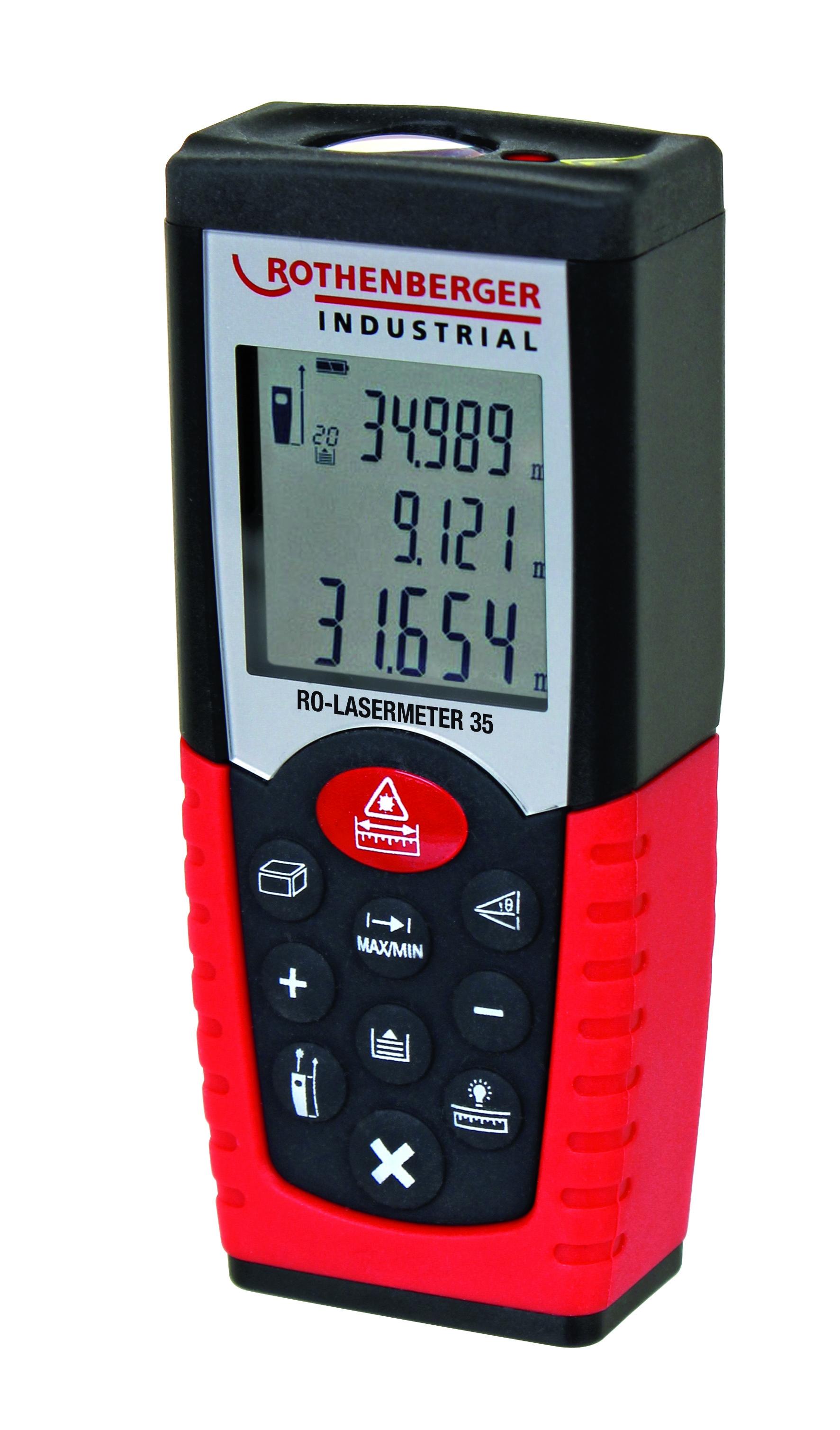 Rothenberger Industrial Laser-Distanz-Messgerät 35m [NORMA24]