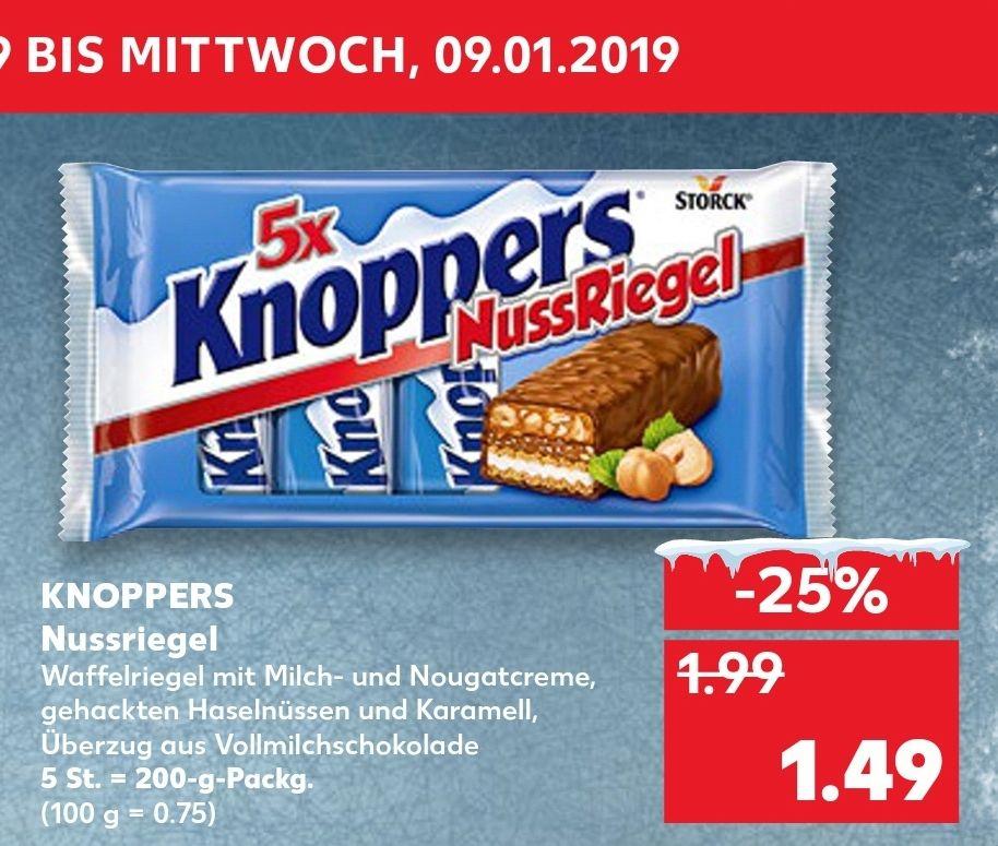 [Kaufland] ab 03.01, Knoppers Nussriegel für 1.49€