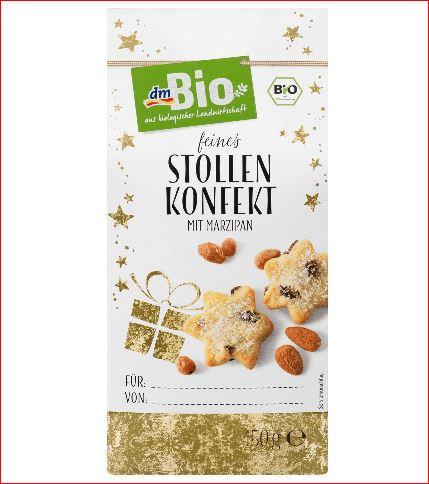 Bio Adventsgebäck, Stollen-Konfekt, 150 g für 95 Cent und weitere Artikel (Kosmetik, Haushalt,Baby) im Ausverkauf  [DM - Drogeriemarkt]