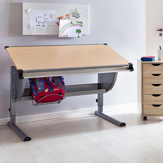 Kinder Schreibtisch Maxi 120 X 60 Cm Neigungs Und