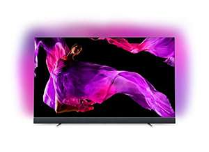 Philips 65OLED903/12 164cm (65 Zoll) OLED TV (4K Ultra HD, Triple Tuner, Android Smart TV) Silber