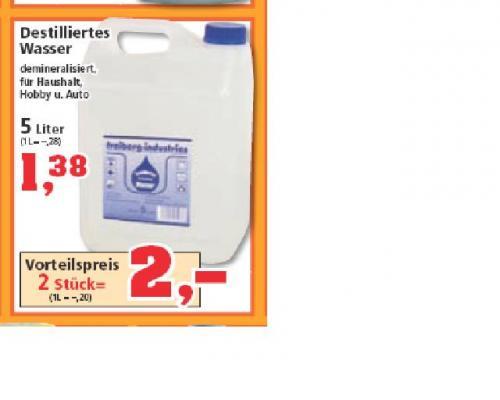 [OFFLINE] 2 x 5-Liter-Kanister destilliertes Wasser bei THOMAS PHILIPPS bundesweit für 2 Euro