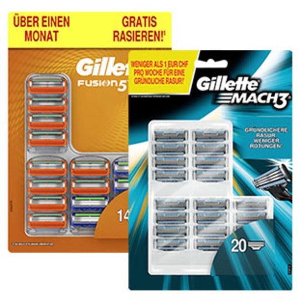 Gillette Mach3 (20er) / Fusion5 (14er) Klingenpacks für 21,99€ (=1,10€/1,57€ pro Klinge) nur Heute bei Real!