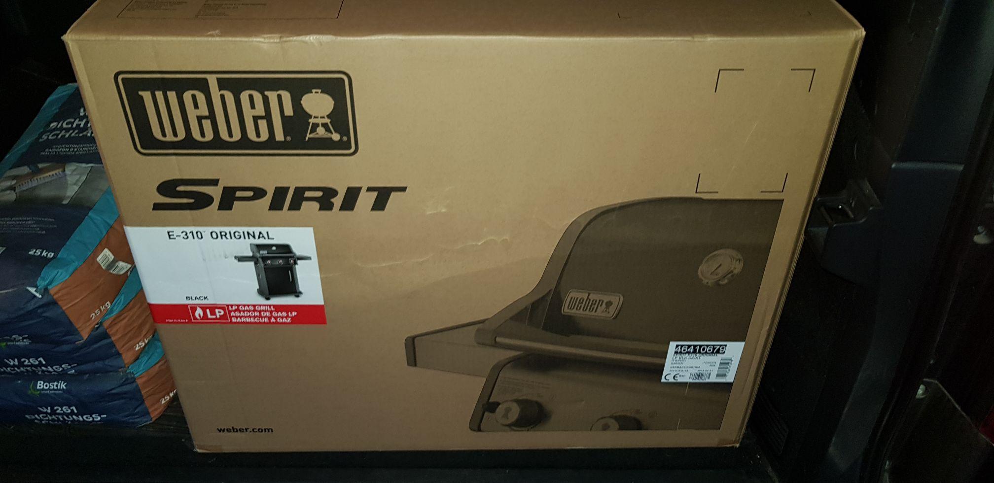 Weber Spirit E 310 Original schwarz. Dank 20% Globus Baumarkt und TPG bei Hornbach nur heute und morgen