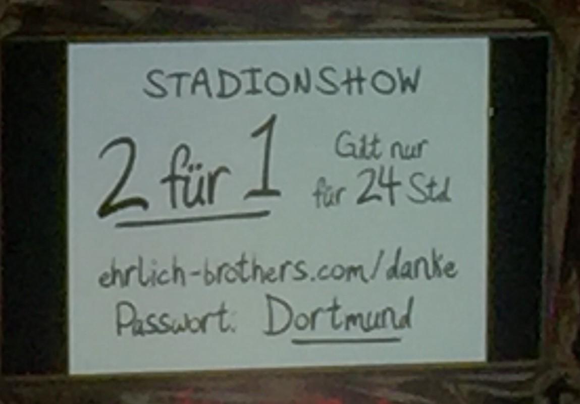 50% auf die neue Stadionshow der Ehrlich Brothers in Düsseldorf am 15.06.2019