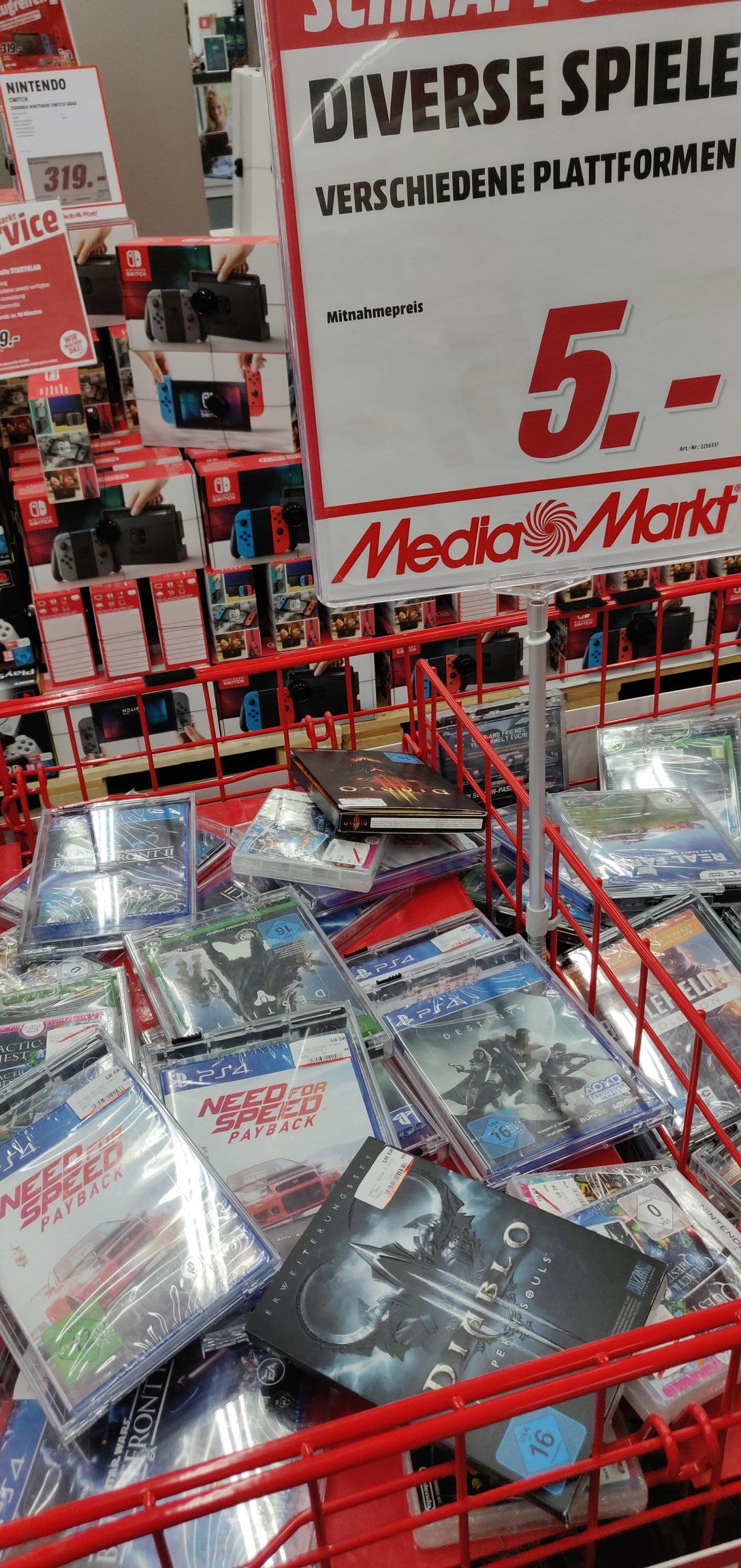 (Lokal München) Media Markt Einsteinstraße Need for Speed Payback und SW Battlefront 2 (PS4)