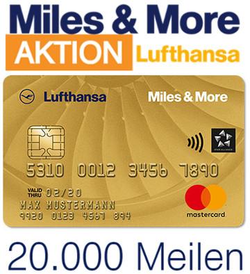 20.000 Meilen für die Miles & More Gold Kreditkarte [Miles&More]