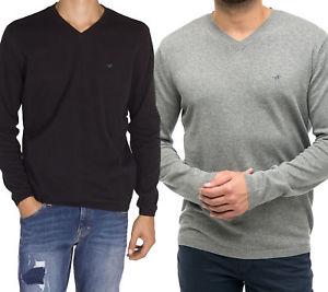 Mustang Herren Pullover 100% Baumwolle schwarz & grau