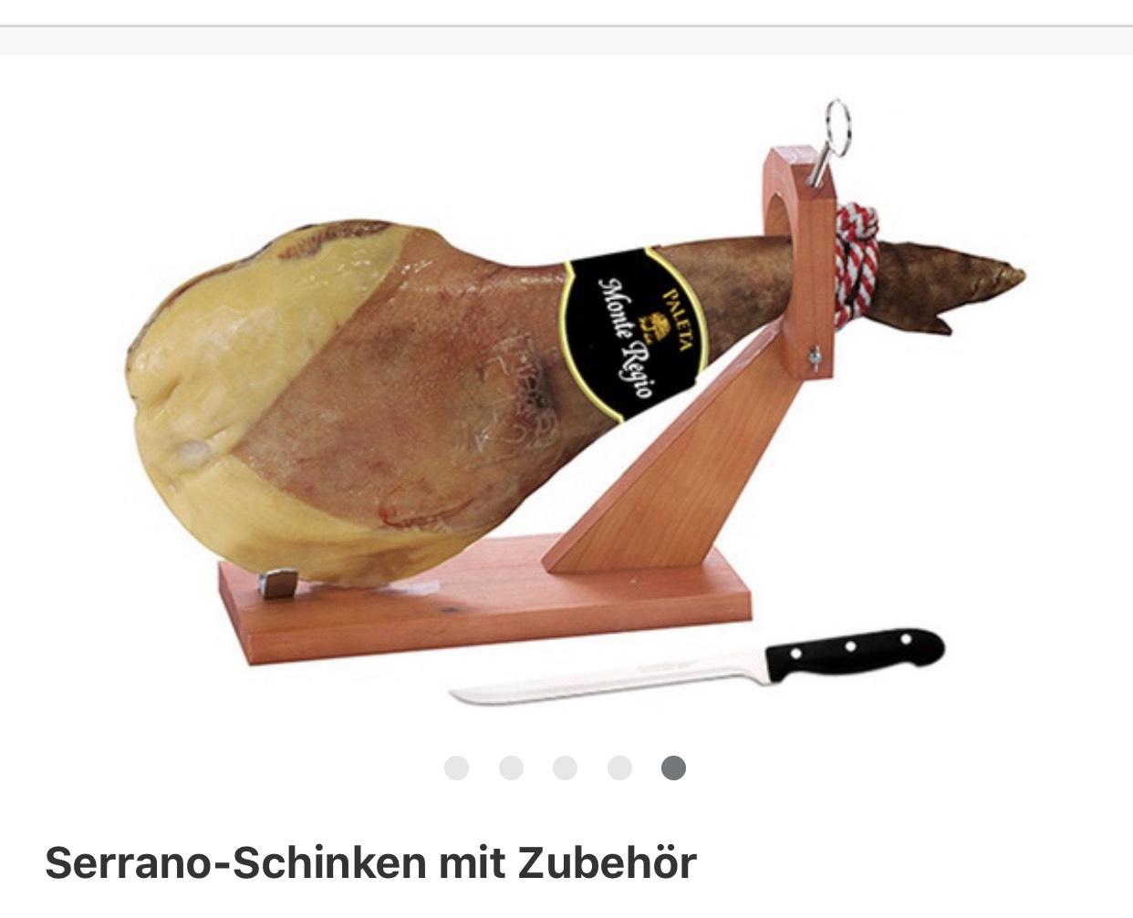Serrano Schinken + Zubehör Groupon Deal ab 23€