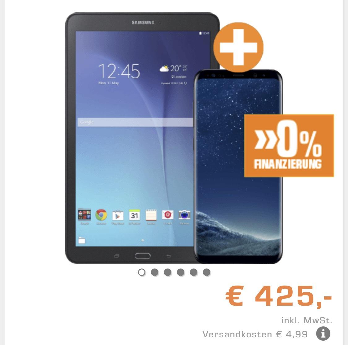 Samsung Galaxy S8 Plus 64GB - Midnight Black + SAMSUNG Galaxy Tab E 9.6 Zoll Wifi, schwarz zsmmn 425€