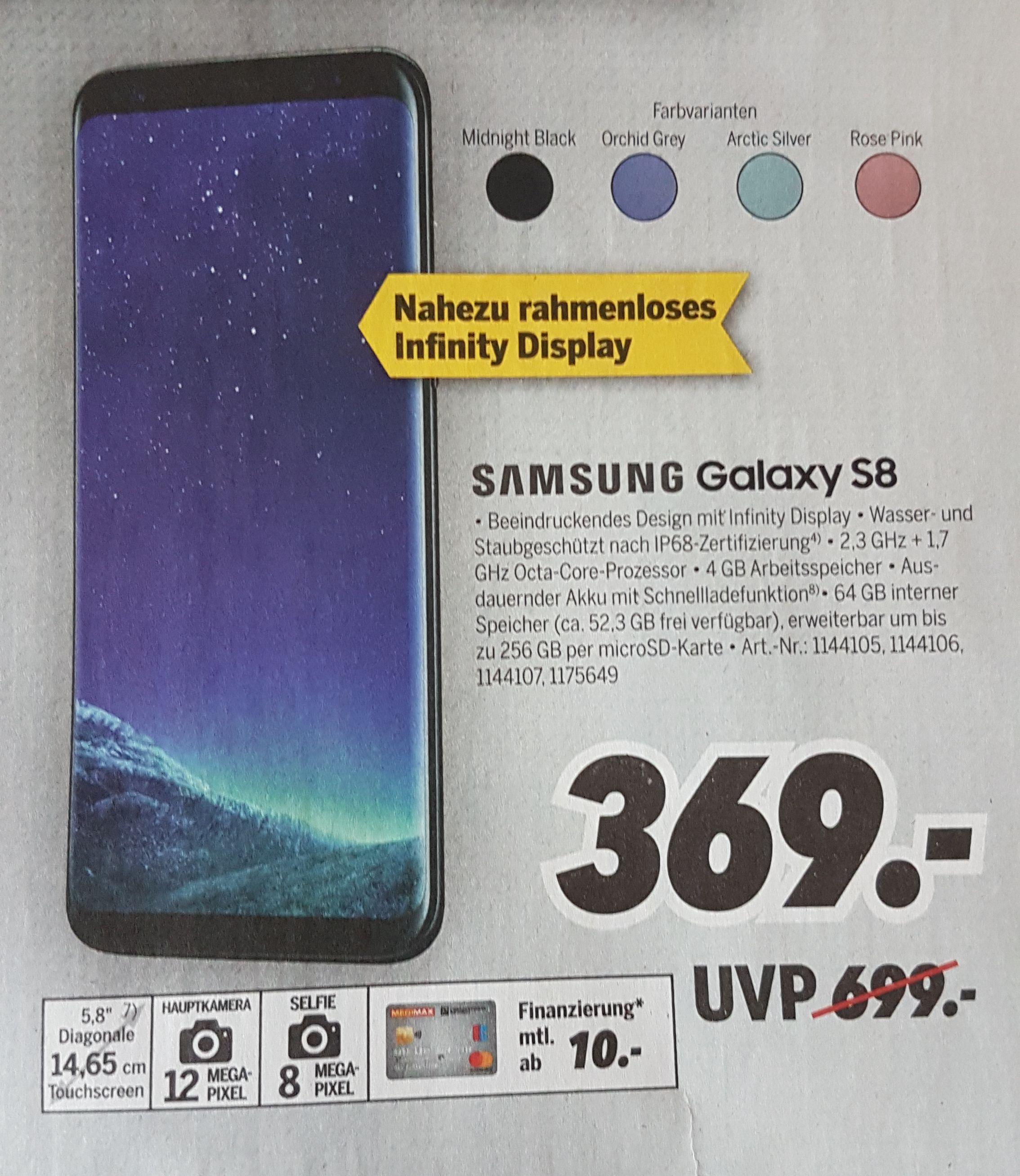 MediMax Samsung Galaxy S8 64GB, alle Farben, Smartphone, bundesweit, Marktabholung