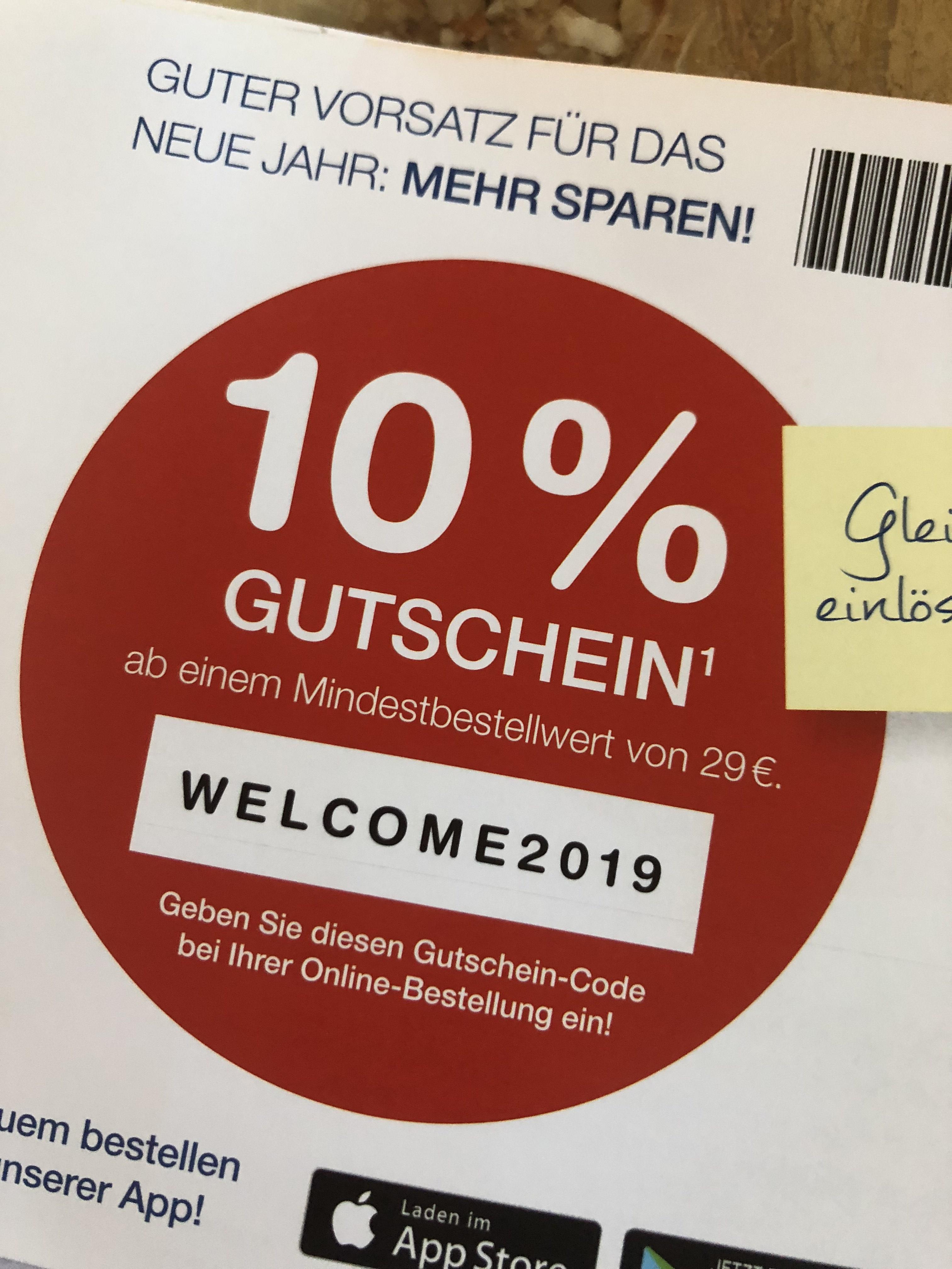 10% Prozent Code für die Shop Apotheke
