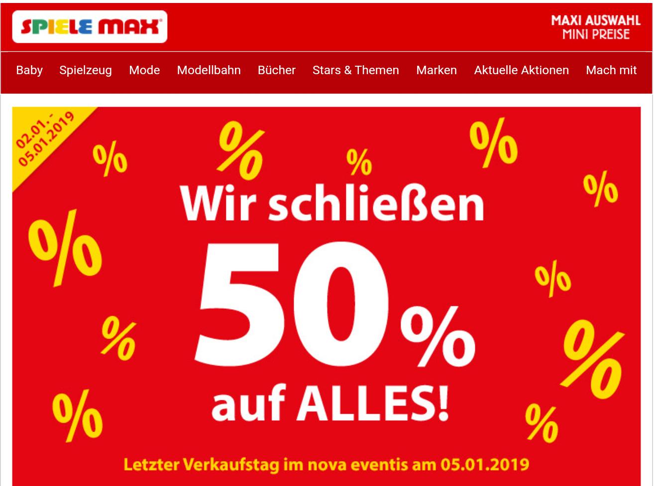 Lokal Leipzig 50% auf alles Cool Club von der  Spiele Max GmbH Nova Eventis