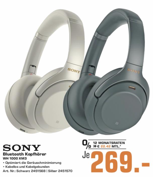 [Saturn Lokal: Bochum & Hattingen] Sony WH-1000XM3   Samsung GQ55Q6FN für 729€   JBL Charge 4 für 139€   BeoPlay H4 für 149€   u.a.