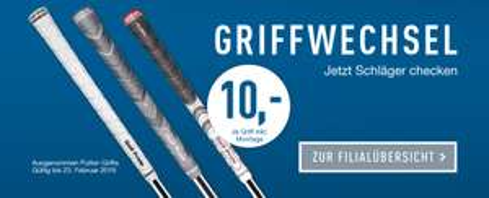 Golf Schläger Griffwechsel für 10€ pro Schläger inkl Griffe nach Wahl