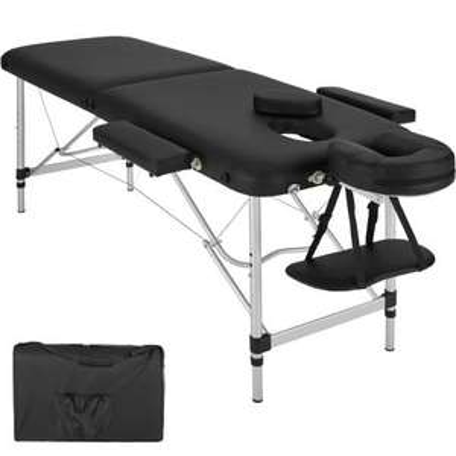 [TecTake] 2 Zonen Massageliege mit Polsterung und Aluminumgestell