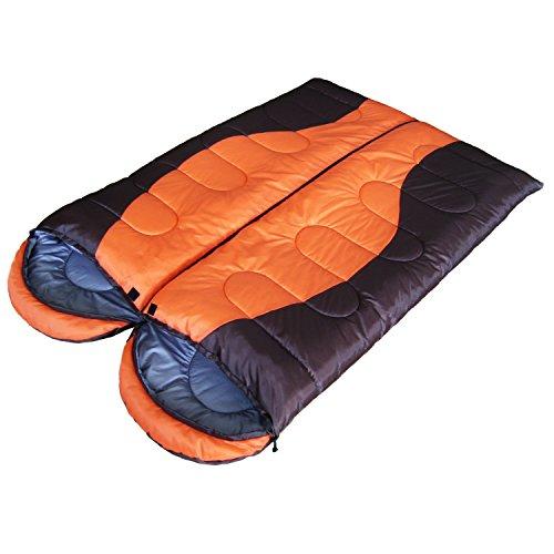 Doppelschlafsack 2x Schlafsack für Pärchen und auch einzeln nutzbar