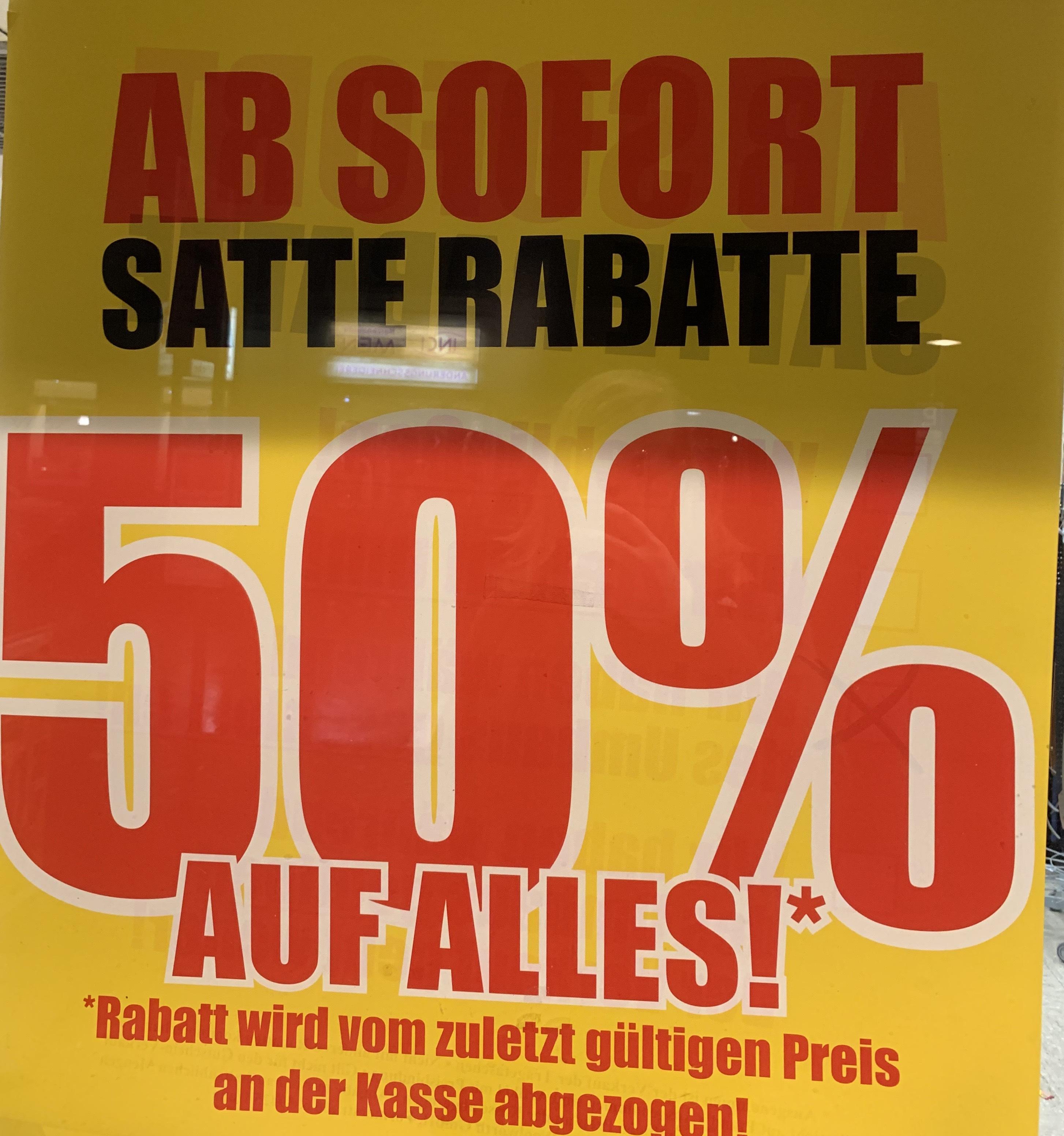 Woolworth [Lokal Stolberg Rhld] 50% auf alles wegen Umbauarbeiten