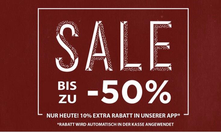 Sale bis 50%, heute 10% extra in der App (10% NL on top möglich)