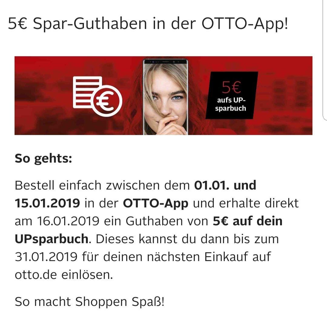 5€ Sparguthaben bei der 1. Bestellung über die Otto App (auch Bestandskunden)