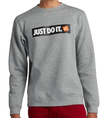 Nike Sportswear Fleece Crew in Grau oder Schwarz (Gr. M-2XL)