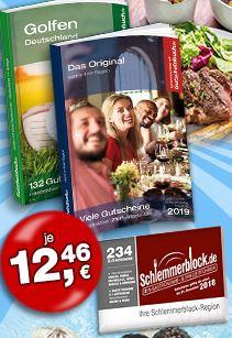 Schlemmerblock 2019, Gutscheinbuch 2019, Gutscheinbuch Golfen 2019 für jeweils 12,46€ inkl. Versand