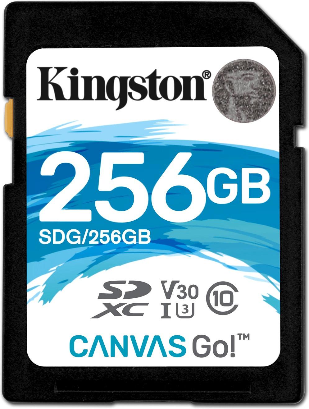 SDXC Speicherkarte 256GB Kingston Canvas GO 90R/45W 15 Stk Mindstar