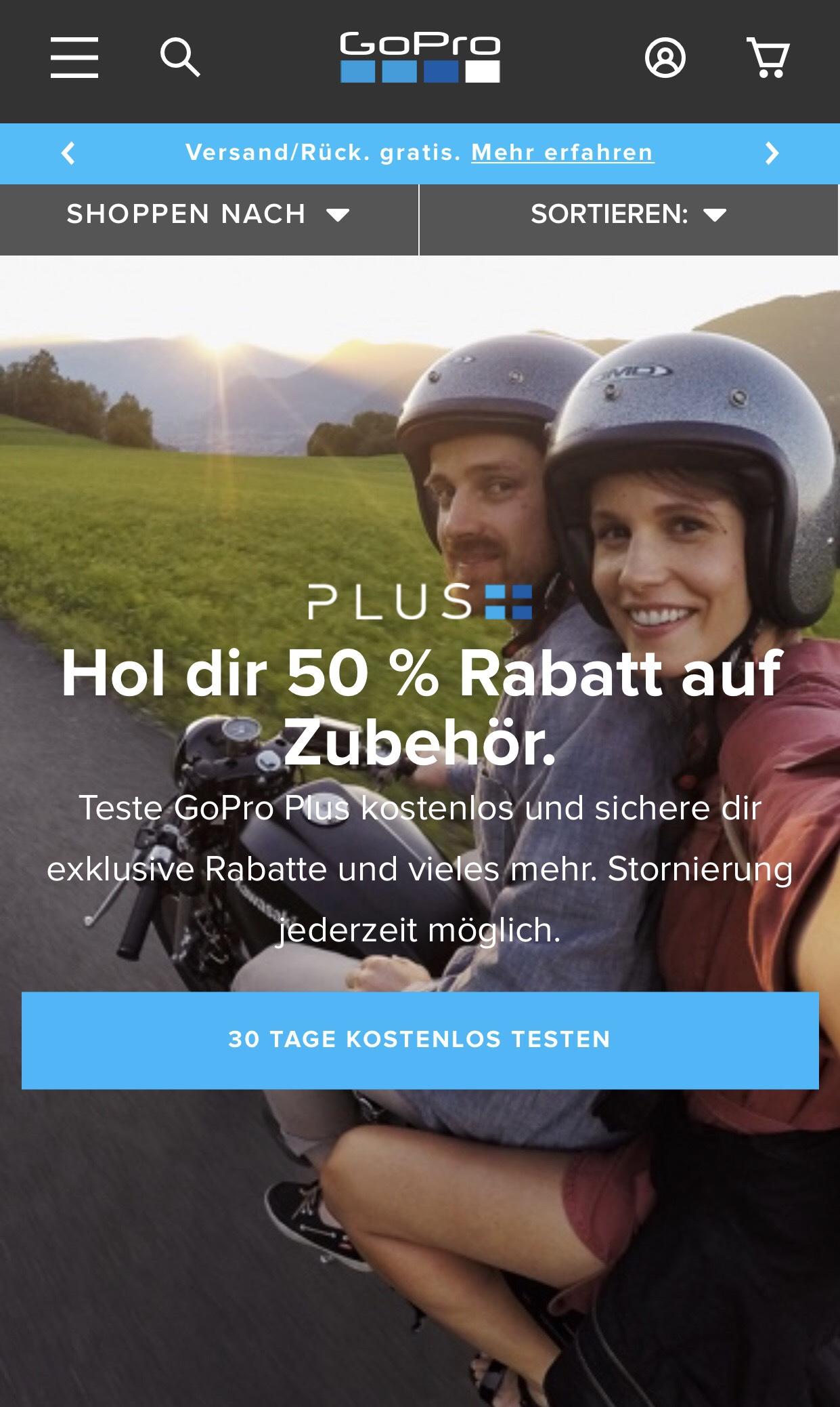 50% auf Zubehör mit GoPro Plus